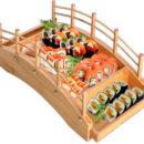 Pod din bambus – suport pentru sushi, maki, sashimi, 53x24x13 cm